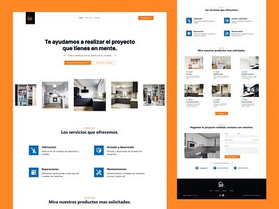Amoblados DF | Landing Page web ui design