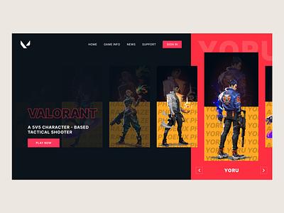 Valorant Home Page Design web homepage valorant uidesign design ui