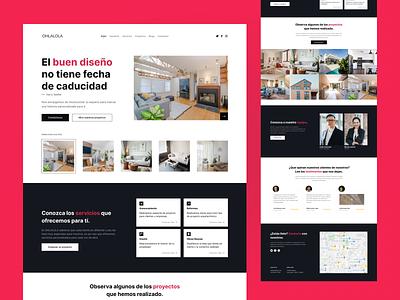 OHLALOLA | Landing Page architecture webdesign uidesign web branding ui design ux