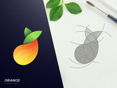 Fresh Orange Logo fruit art amazing logo awesome logo branding business logo creative logo adobe illustrator modern logo logo graphic design abstract animal app logos logotype logodesign