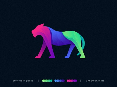 Colorful Panther Illustration panther art amazing logo awesome logo branding business logo creative logo adobe illustrator modern logo logo graphic design abstract animal app logos logotype logodesign