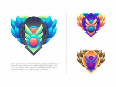Wings animal emblem art