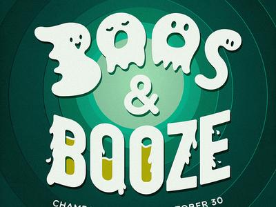 BOOS & BOOZE beer ghost halloween booze boos