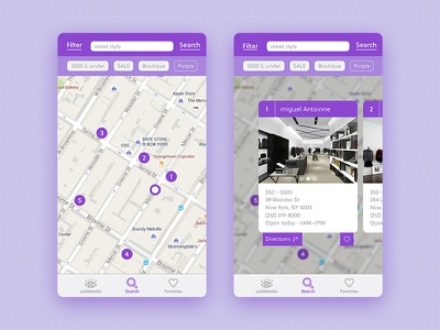 Daily UI 020 – Location Tracker street style cards fashion stores fashion map location tracker daily ui 020 daily ui