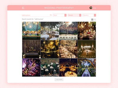 Daily UI 022 – Search lights forest wedding photography search daily ui 022 daily ui
