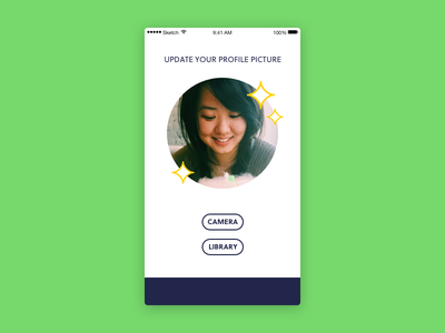 Daily UI 031 – Picture Upload library camera upload profile picture daily ui 031 daily ui