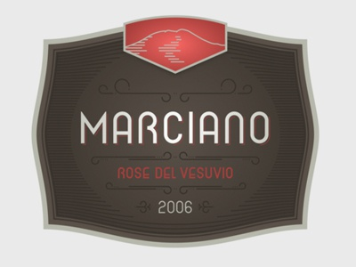 Marciano Rose Del Vesuvio wine label packaging italian