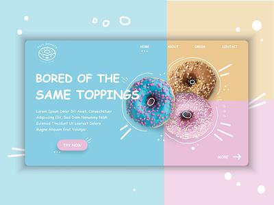 Yasss Donuts website ui illustration design