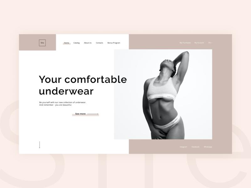 She web concept minimal website design website landingpage web design ux ui landing design