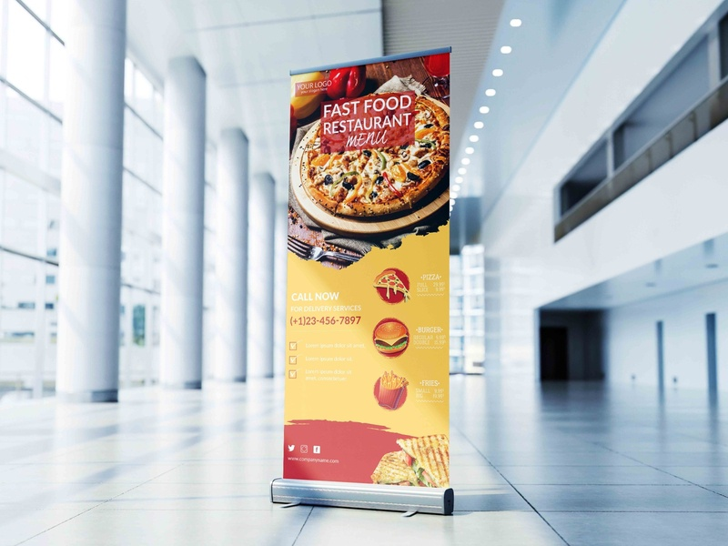 Free - Restaurant Roll Up Banner