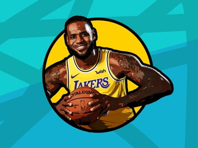 King James digital art basketball lebronjames nba poster digital artwork vector art illustration digital illustration