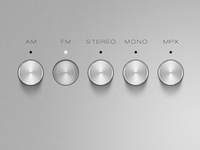 Brushed Metal Buttons