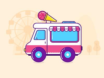 Ice Cream Truck app. ui. ux.
