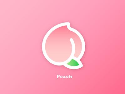 🍑 Sweet Peach Logo illustator pinky fruit peach logo peachy pink juicy sweet type peach