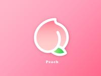 🍑 Sweet Peach Logo