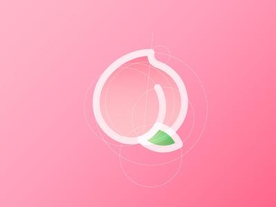 🍑 Peach Logo Sketch sweet sketch illustator fruit peach logo juicy peachy pink peach