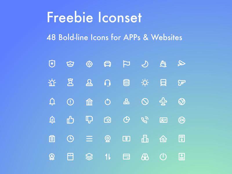 [Iconset#002] 48 Freebie Icons for You icon design police illustrator ai sketch free icon download freebie icon set icons icon