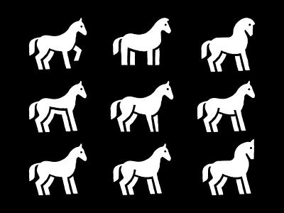 Horse sketches pencil sketch sketching sketches graphic design minimal logo icon flat design animal icon