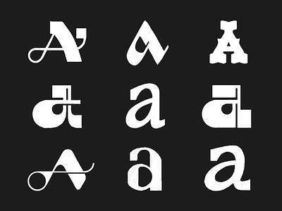 "Letter ""A"" sketches letter mark lettermark lettering flat minimal logo monogram 36daysoftype sketches sketch icon design"