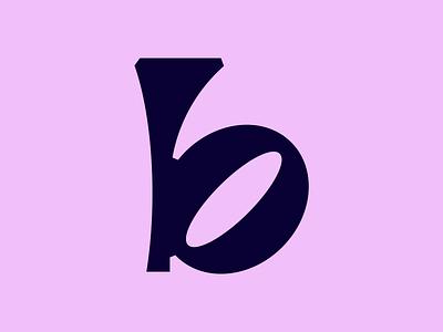 """Letter """"b"""" graphic design minimal logo tyopgraphy lettering b letter b monogram lettermark illustrator vector icon design"""