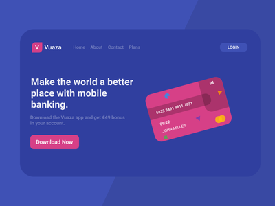 Mobile Banking Landing Page mobile banking app ui web figma design android app ios