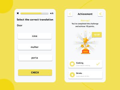 Morango Languages - Language Learning App ui branding mobile language learning figma ios app language app