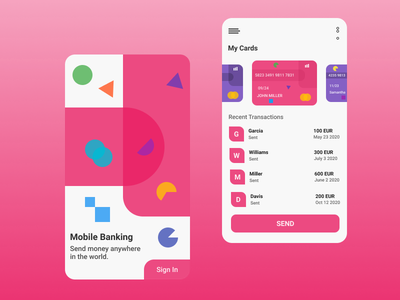 Mobile Banking App branding design ux mobile mobile banking app figma ui android ios app