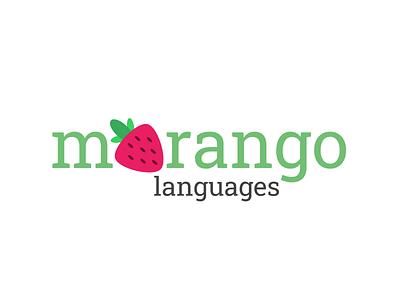 Morango Languages App logomaker logoinspiration creative logotype logos graphicdesign logodesigner logo design design morangolang language app branding app figma logo