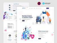 Data Analytics Service minimalist database ux web design ui data visualisation digital agency website data analysis data