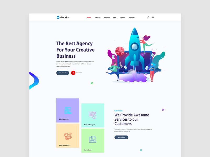 Digital Agency startup digital agency website minimal web ux ui design