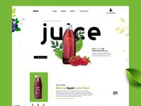 Juice Landing page best shot illustration best design juice landing page juice trendy design best illustrations illustrator web branding website ux ui design