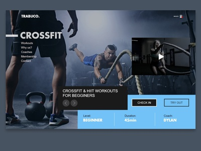 Trabuco Fitness Design Concept logo website web ux ui typography minimal design branding adobe xd