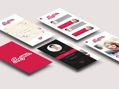 See you app flat minimal ui ux typography design branding adobe xd