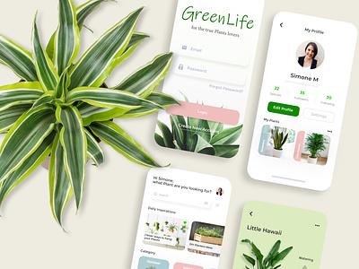 GreenLife App app minimal ux design ui typography adobe xd