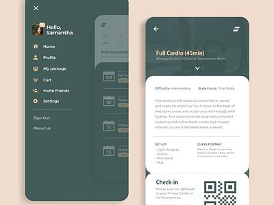 myfit App design typography icon flat app branding adobe xd ux ui