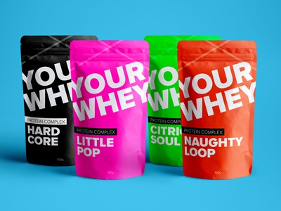 Your Whey Protein Packaging packaging design packaging logo flat minimal branding design typography