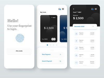 Card Banking App branding minimal design typography app flat ui adobe xd