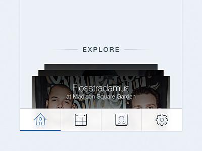 SeatGeek iOS tabbar  seatgeek iphone ios tabbar tab ios7 icons