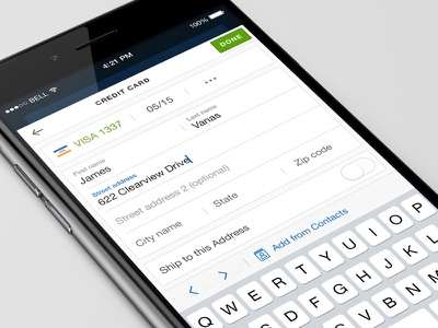 Add a creditcard seatgeek checkout tickets mobile iphone buy e-ticket add creditcard payment creditcard