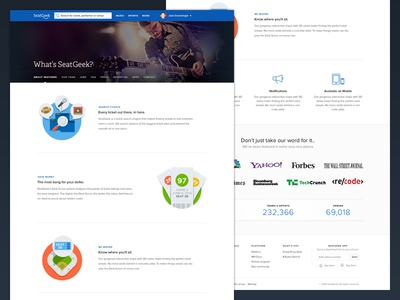 About SeatGeek seatgeek website about illustrations