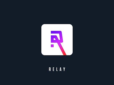 Relay Logo Concept r icon concept logo relay