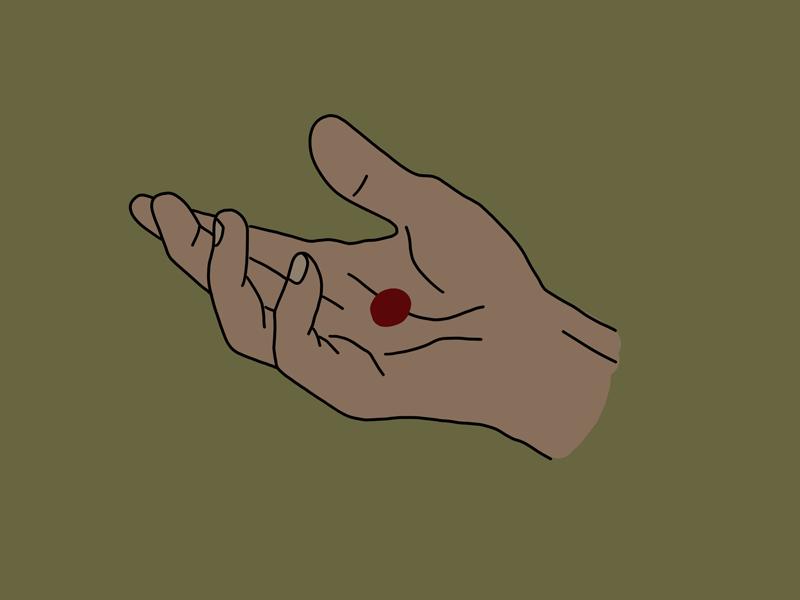 wounded healer procreate ipad pro hand good friday easter resurrection christ jesus monoline illustration