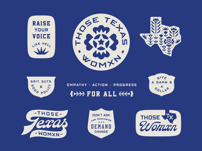 Those Texas Womxn branding design texas women empowerment womxn
