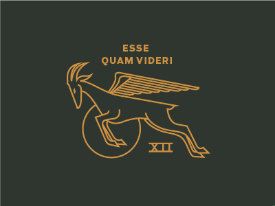 To be, rather than to seem latin antelope wings animal drawing illustration