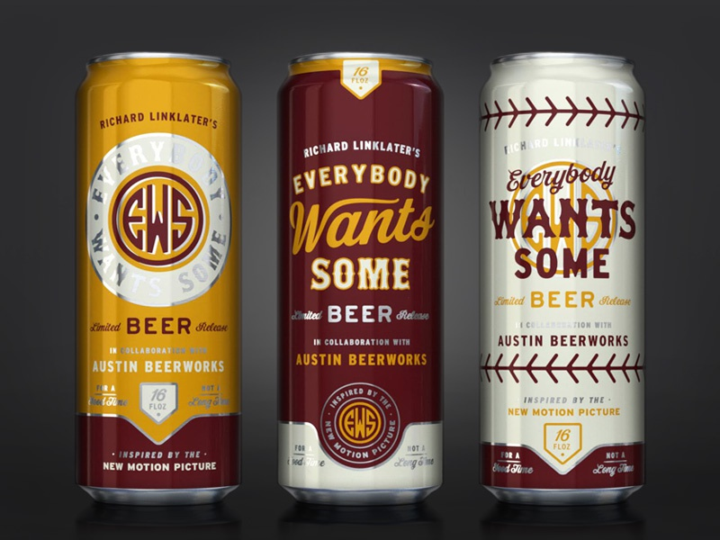 Everybody Wants Some can design beer baseball alamo drafthouse austin beerworks