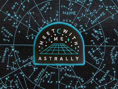 Astral Patch  moon stars astral plane streetwear swag design embroidered patch patch