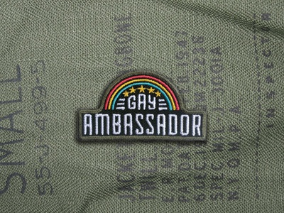 Gay Ambassador Patch queer rainbow ambassador gay streetwear swag design embroidered patch patch