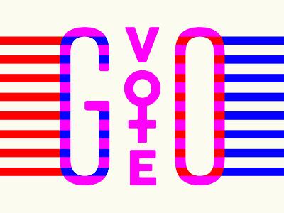 GO VOTE so close merica red white blue so stressed fuck hate fuck trump hillary go vote election vote