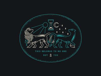 Permanent Records time moon lion tattoo lyrics design illustration permanent records