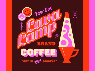 Lost Type Takeover #1 coffee pink type icon groovy peace lava lamp lost type